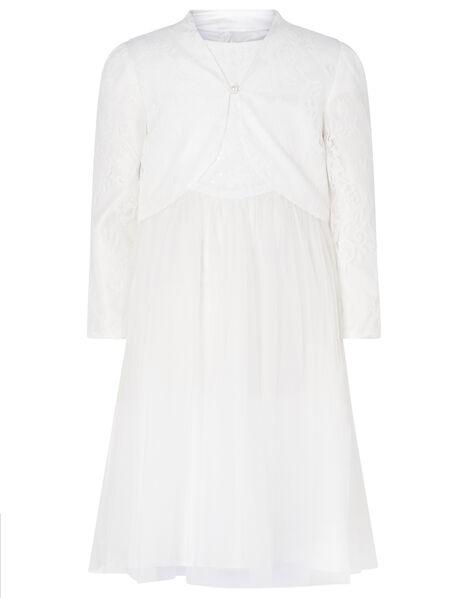 Lace Dress and Cover-Up Bridal Set Ivory, Ivory (IVORY), large