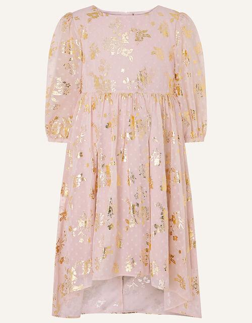 Sundance Foil Chiffon Tunic Dress , Pink (PINK), large