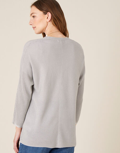 Sari Textured Cardigan, Silver (SILVER), large