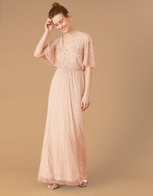 ARTISAN Tabitha Embellished Maxi Dress, Pink (PINK), large