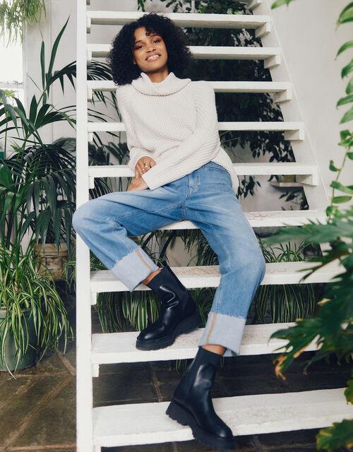 Wide Leg Jeans, Blue (LIGHT AUTHENTIC), large