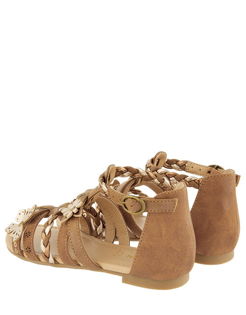 Butterfly Strappy Sandals, Tan (TAN), large