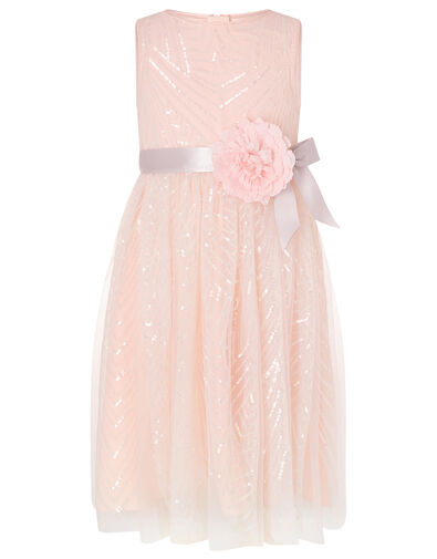 Sequin Pattern Dress Pink, Pink (PINK), large
