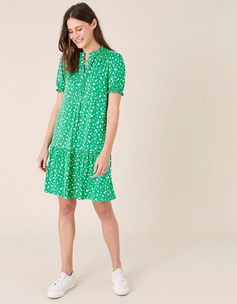 Cosima Ditsy Floral Short Dress Green, Green (GREEN), large