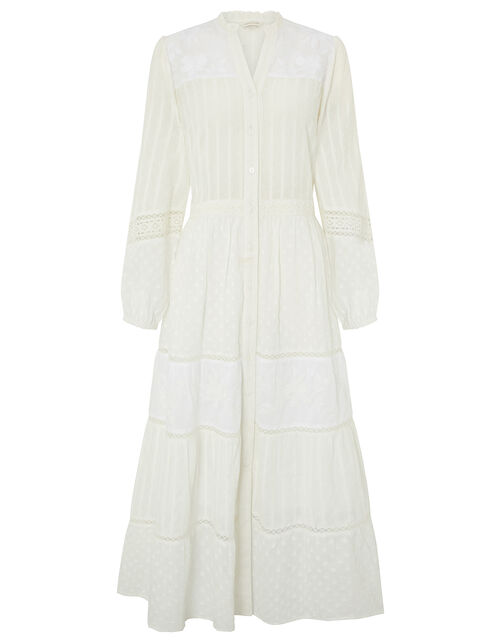 Phillipa Embroidered Lace Maxi Dress, Natural (IVORY), large