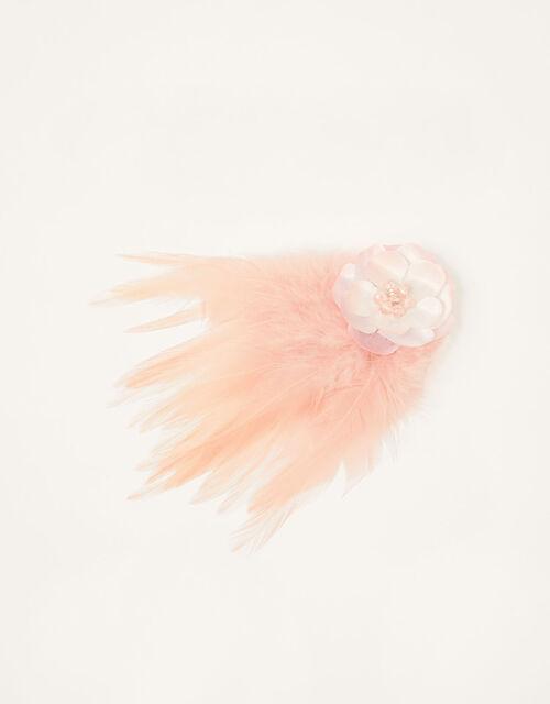 Fluffy Flower Bead Hair Clip , , large