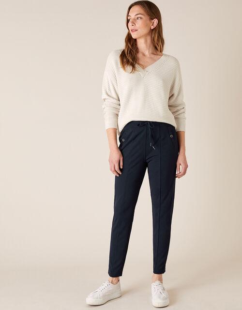 Layla Lounge Trouser, Blue (NAVY), large