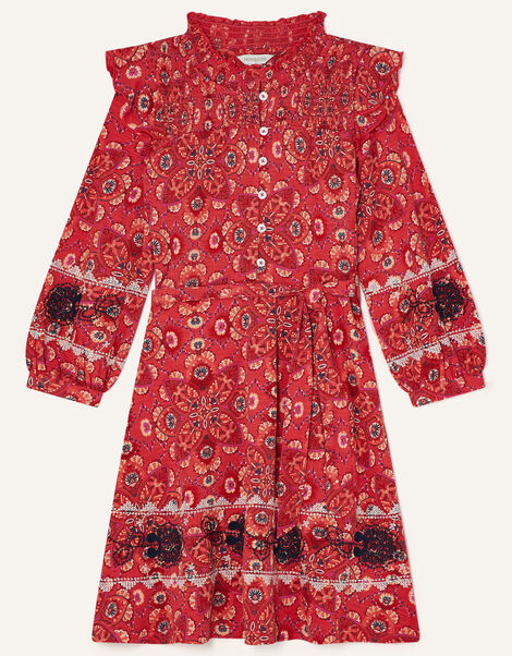 MINI ME Davina Printed Frill Dress  Red, Red (RED), large