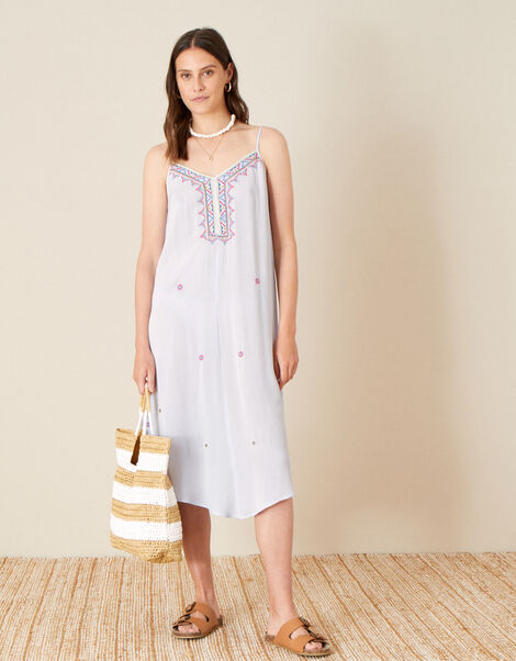 Lana Embroidered Dress  Blue, Blue (BLUE), large