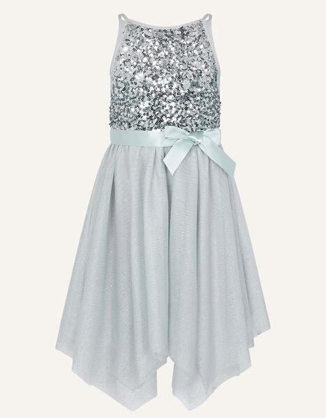 Truth Ombre Hanky Hem Dress Grey, Grey (GREY), large