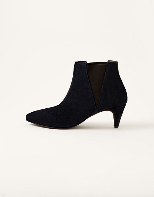 Serenity Suede Point Ankle Boots, Blue (NAVY), large
