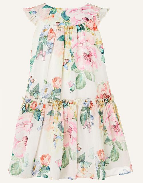 Baby Rose Print Chiffon Dress , Multi (MULTI), large