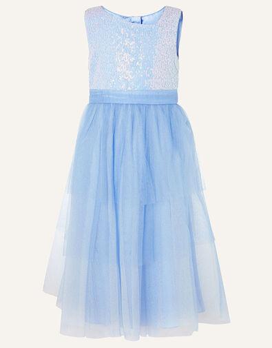 Elise Sequin Tulle Maxi Dress  Blue, Blue (BLUE), large