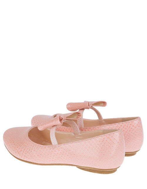 Adilynn Bow Croc Ballerina Flats, Pink (PINK), large