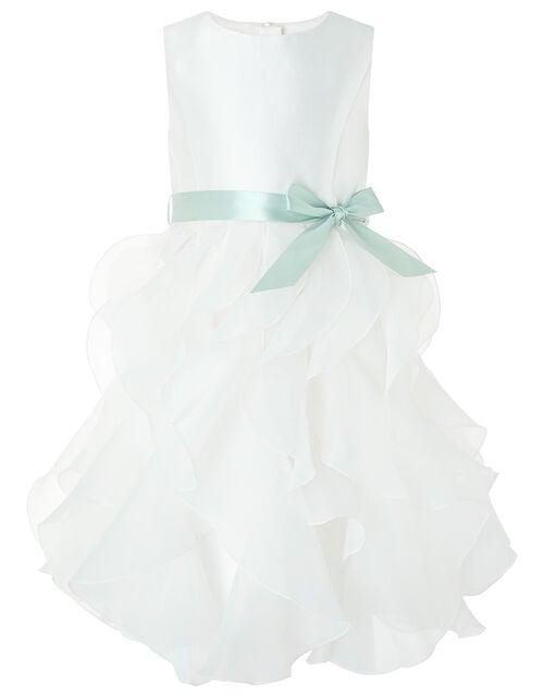 Cannes Organza Ruffle Dress , Ivory (IVORY), large