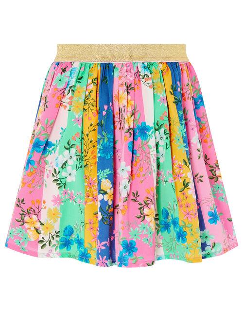 Stripe Floral Skirt, Multi (MULTI), large