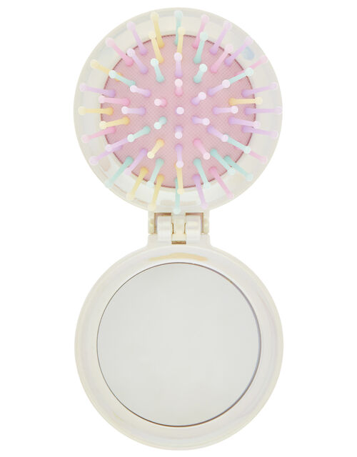Supernova Unicorn Diamante Hairbrush, , large