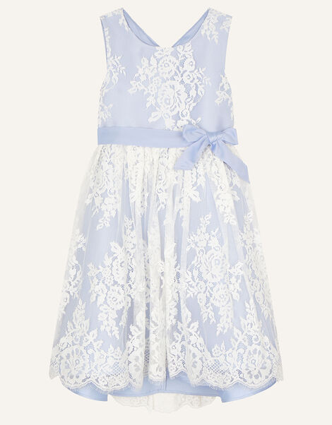 Lace High-Low Dress Blue, Blue (BLUE), large