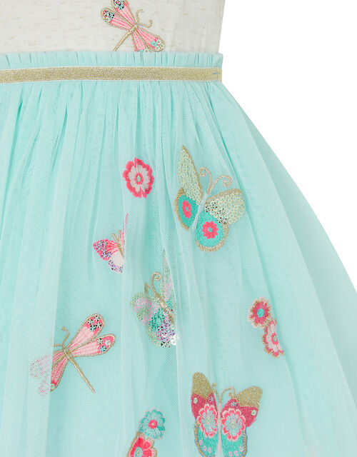 Baby Butterfly Disco Dress, Blue (AQUA), large