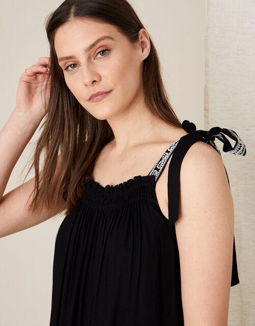 Jaya Maxi Dress in LENZING™ ECOVERO™, Black (BLACK), large