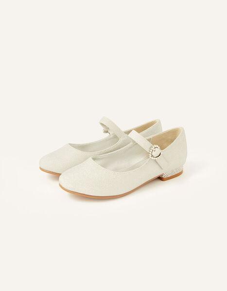 Glitter Mini Heels  Silver, Silver (SILVER), large