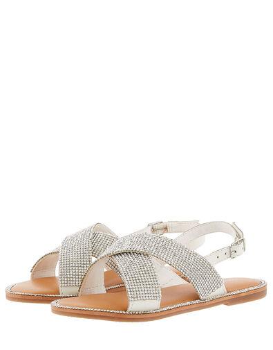 Diamante Sandals Silver, Silver (SILVER), large