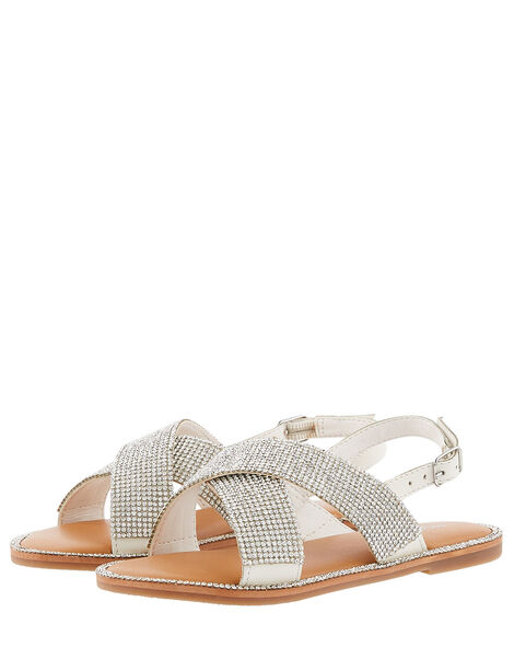Diamante Sandals Silver, Silver (SILVER), large
