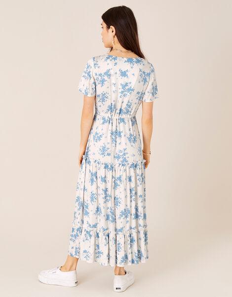 Floral Midi Dress in LENZING™ ECOVERO™ Ivory, Ivory (IVORY), large
