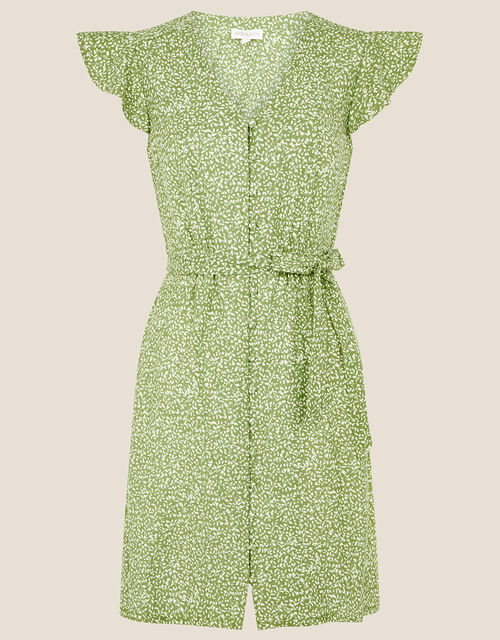 Maddy Printed Jersey Dress, Green (GREEN), large