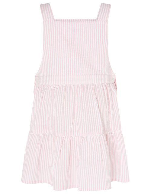 Baby Stripe Pinny and Top , Pink (PINK), large