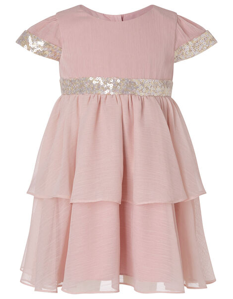 Baby Sequin Tiered Dress Pink, Pink (PINK), large
