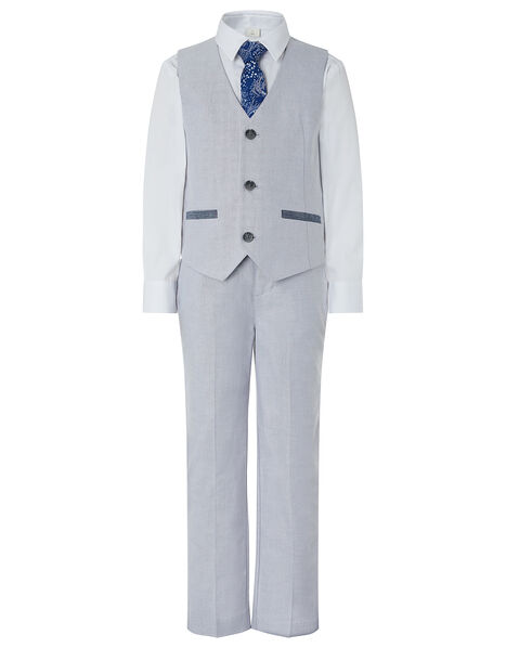 Grayson Oxford Four-Piece Suit Set Grey, Grey (GREY), large