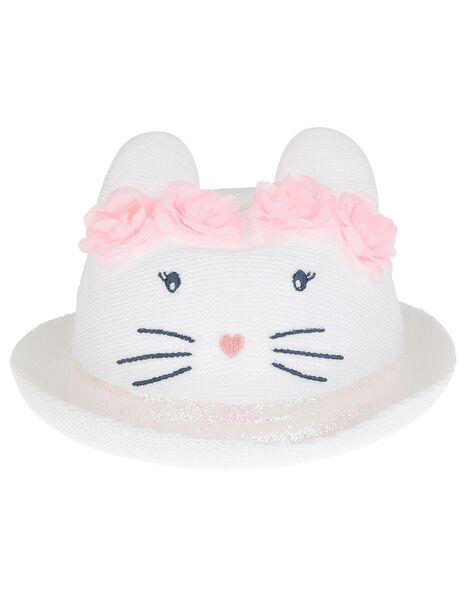 Baby Maggie Bunny Bowler Hat White, White (WHITE), large
