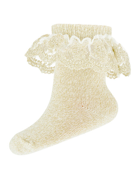 Baby Ellen Gold Sparkle Socks Gold, Gold (GOLD), large