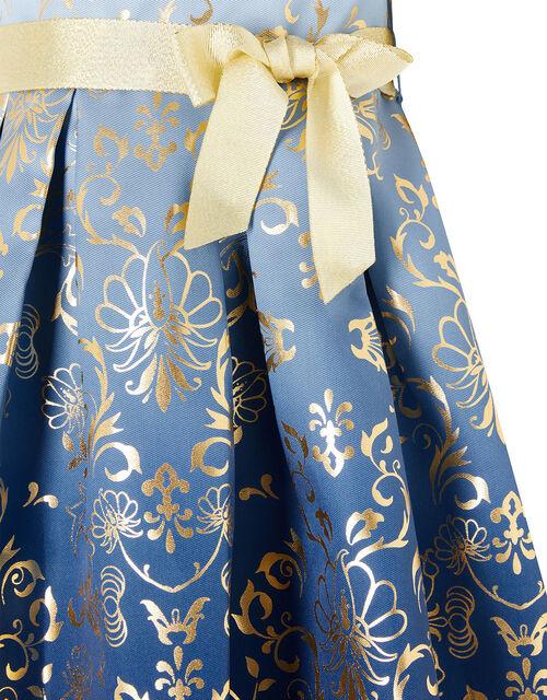 Baby Macey Ombre Blue Foil Print Dress, Blue (BLUE), large