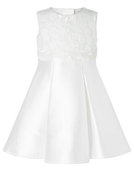 Baby Anika Floral Bodice Dress Ivory, Ivory (IVORY), large