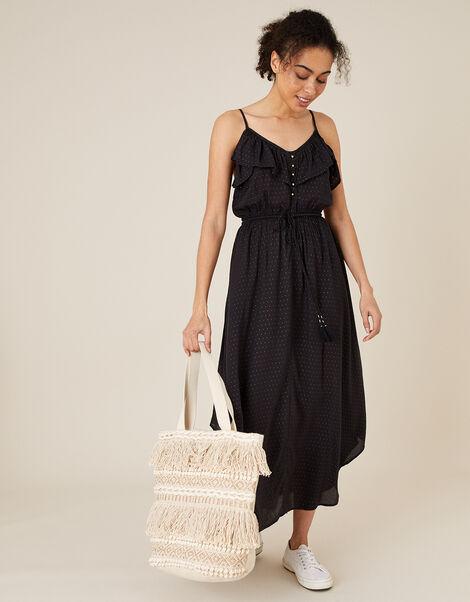 Spot Print Cami Dress in LENZING™ ECOVERO™ Black, Black (BLACK), large