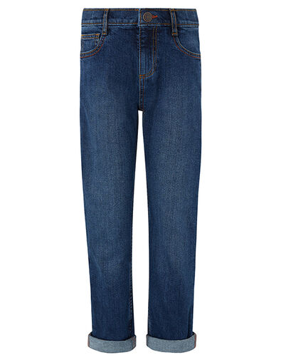 James Straight Leg Jeans Blue, Blue (NAVY), large