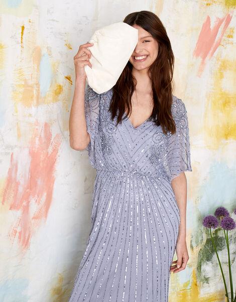 ARTISAN Holly Floral Maxi Dress Blue, Blue (BLUE), large