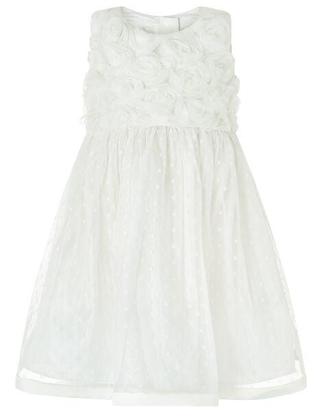 Baby Blossom Rose Ivory Occasion Dress Ivory, Ivory (IVORY), large