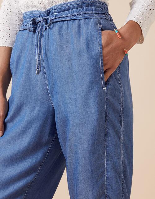 Cropped Trousers in LENZING™ TENCEL™ Denim, Blue (DENIM BLUE), large