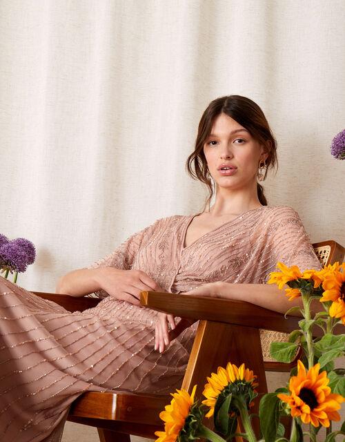 ARTISAN Alex Embellished Wrap Dress , Pink (PINK), large