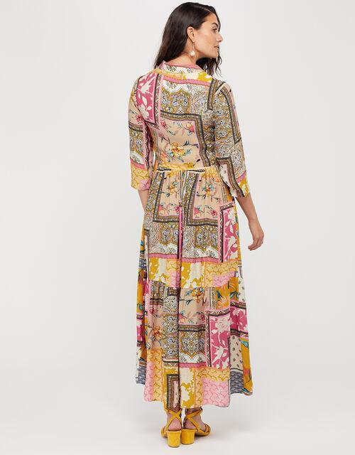 Scandi Print Shirt Dress, Ivory, large