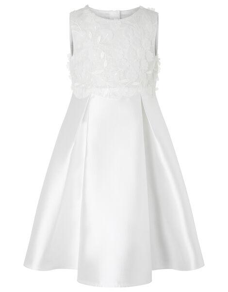 Anika Floral Bodice Dress Ivory, Ivory (IVORY), large