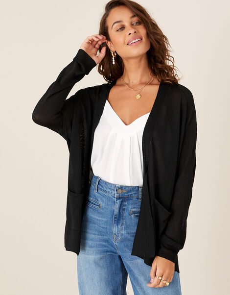 Sara Lightweight Cardigan Black, Black (BLACK), large