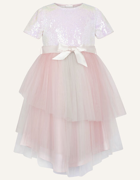 Prairie Sequin Rainbow Dress  Pink, Pink (PINK), large