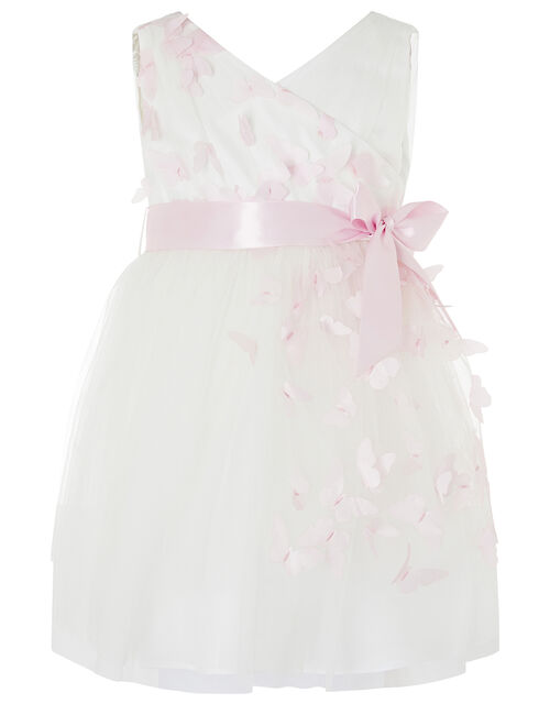 Baby 3D Butterfly Dress, Ivory (IVORY), large