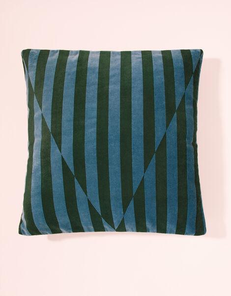 Velvet Stripe Cushion, , large