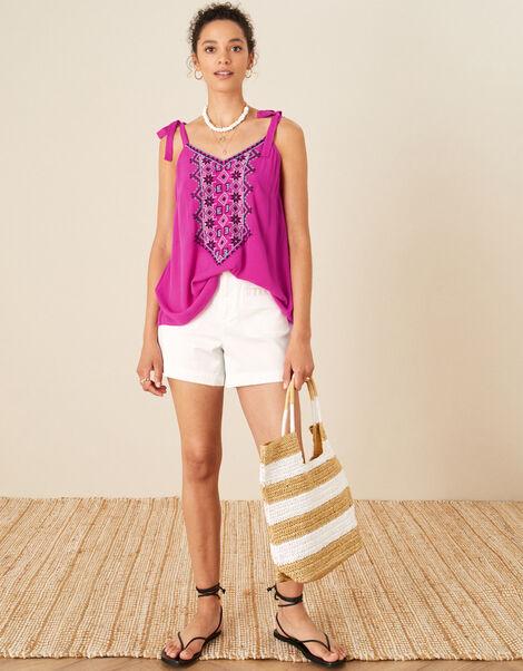 Lana Embroidered Cami Top Pink, Pink (PINK), large