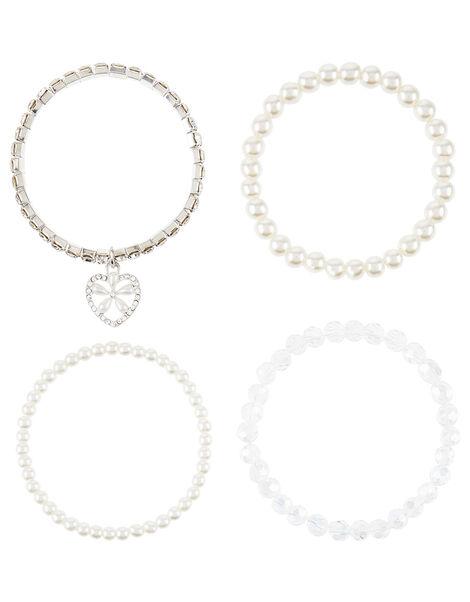 Pearly Heart Bracelet Set, , large